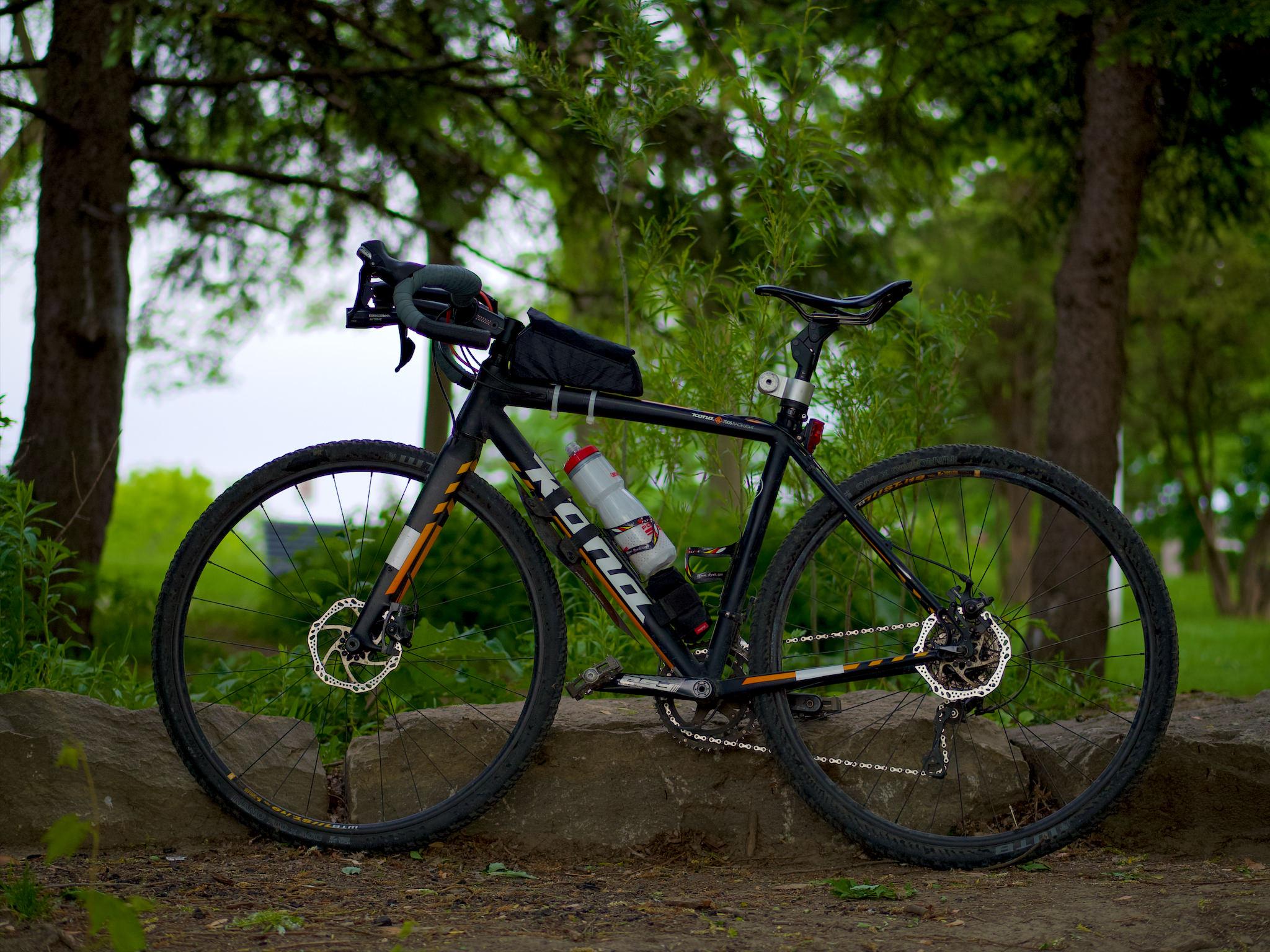 Une photo du vélo incluant les modifications.