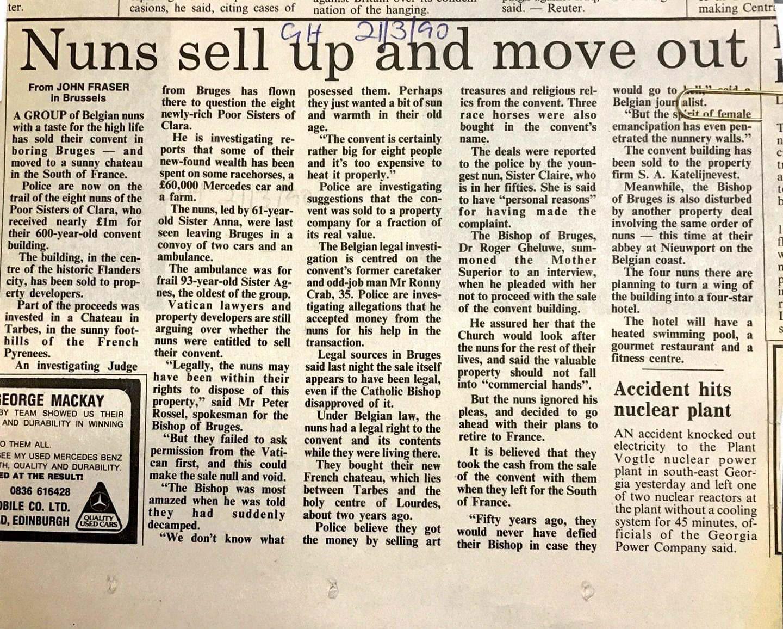Article de presse de 1990 sur cette histoire