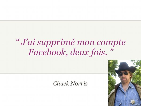 Facebook sucks pour Paris Web 2008