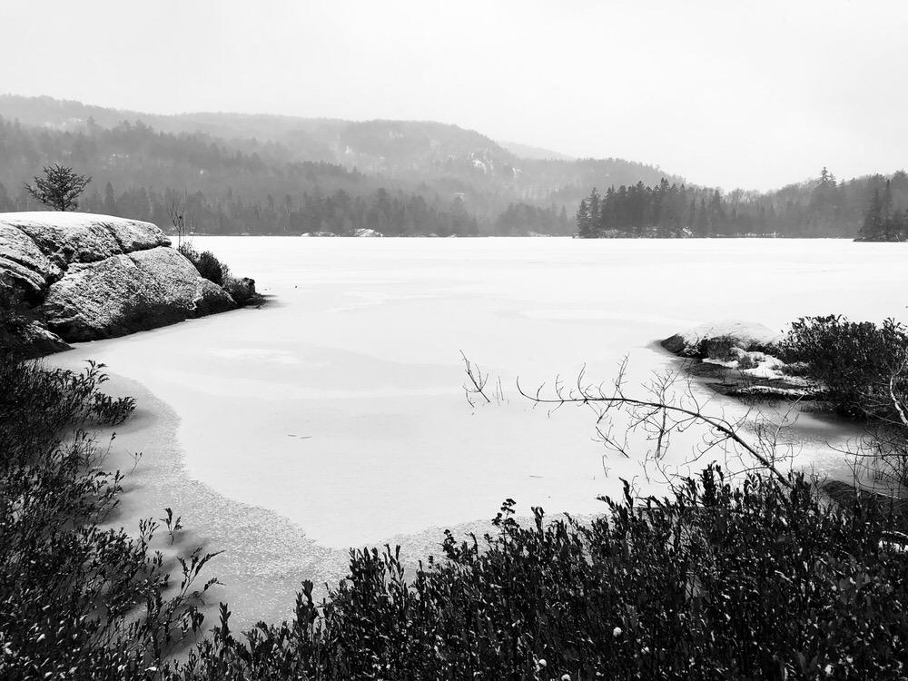 Lac Nantel, spot de yoga