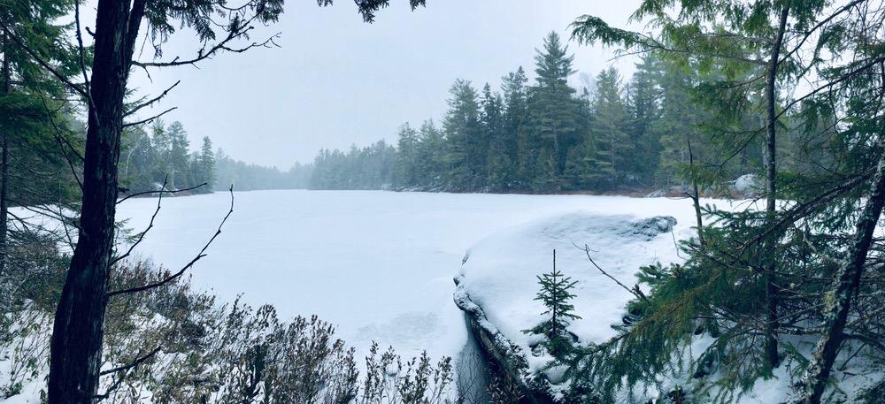 Lac Nantel sous la neige