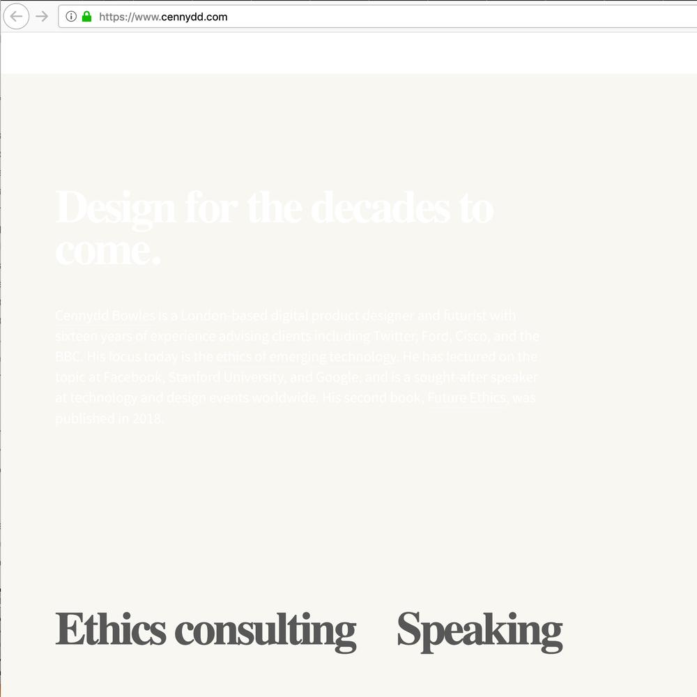 Capture d'écran d'un site dont  les contrastes sont mauvais par défaut.